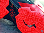 nike lebron 11 gr black red 8 13 New Photos // Nike LeBron XI Miami Heat (616175 001)