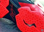 nike lebron 11 gr black red 8 13 New Photos // Nike LeBron XI Miami Heat (616175 001)