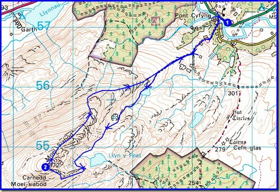 Our route – 10km (6 miles) with about 800 metres ascent, in a shade over 5 hours