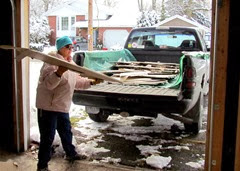 1311191 Nov 28 Barb Throwing Drywall On Truck