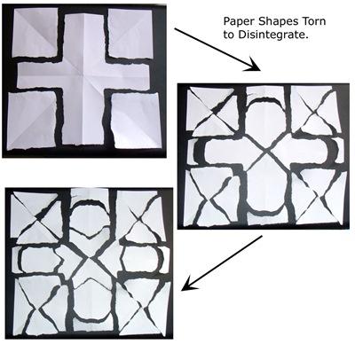 Torn Paper Squares