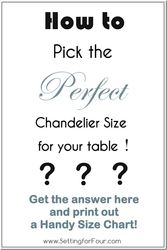 How to Pick the Perfect Chandelier Size with Printable Size Guide from Setting for Four