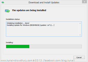 Installing Windows 8.1 Package Installer