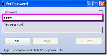 ScreenBlur settaggio password