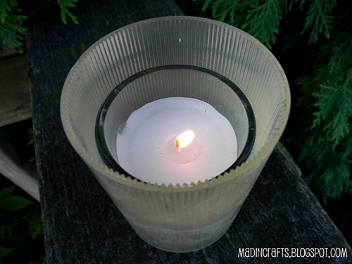 votive candle from leftover parts