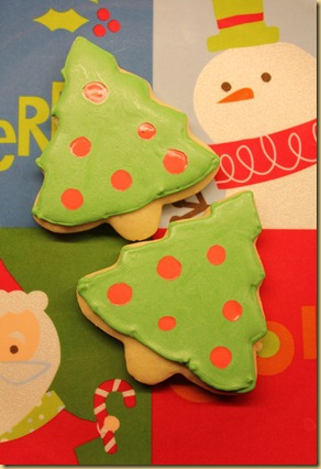 Christmas Tree Sugar Cookie