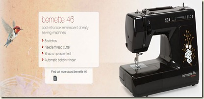 Bernette 46 info from Bernina website