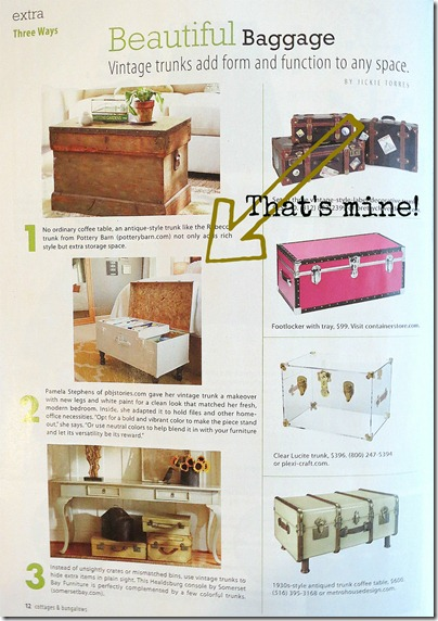 diyfilingtrunk, cottages and bungalows magazine