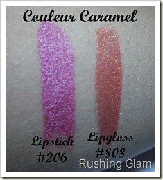 Couleur Caramel lipstick and lipgloss (4)
