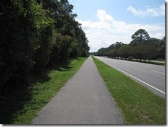 Separated bike path on HHI
