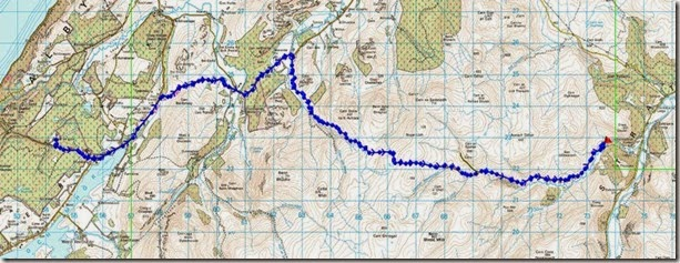 Route Ault na Goire to Glen Mazeran