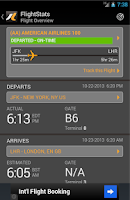 Screenshot of FlightStats