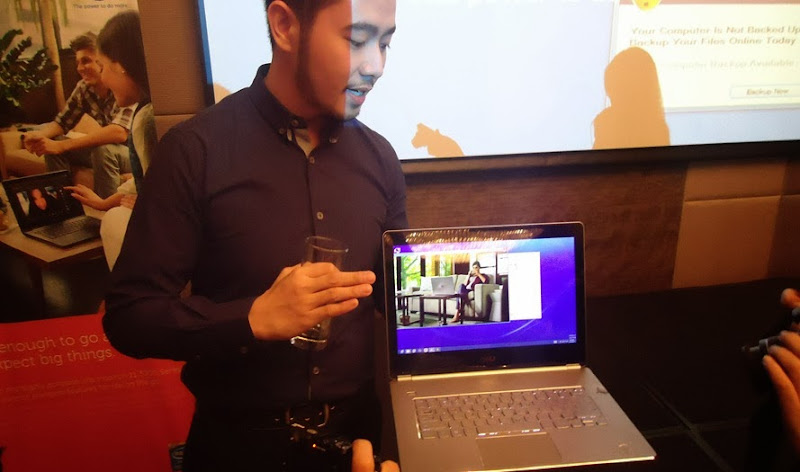 Brand Manager showing Spill Proof Inspiron 7000