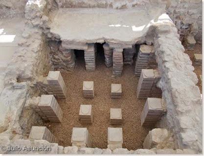 Villa romana de l´Albir - sistema de calefación