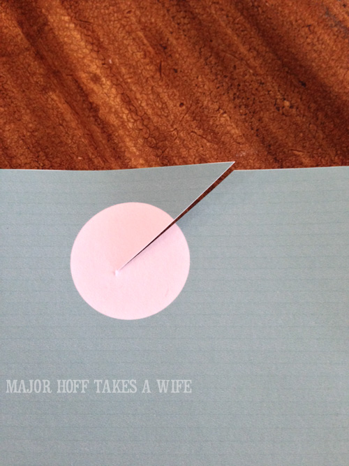 How to cut the printable to make a door knob holder