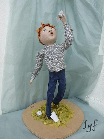 muñeco papel mache 7
