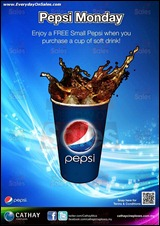 Cathay Cineplexes FREE Pepsi Promotion 2013 Branded Shopping Save Money EverydayOnSales