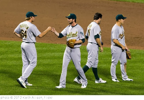 'Oakland Athletics' photo (c) 2012, Keith Allison - license: http://creativecommons.org/licenses/by-sa/2.0/