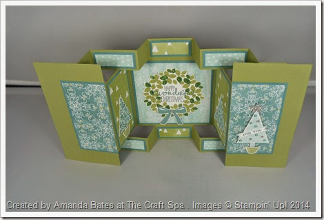 All is Calm, Double Display Card, Festival of Trees, Wonderful Wreath, by Amanda Bates, The Craft Spa (2)