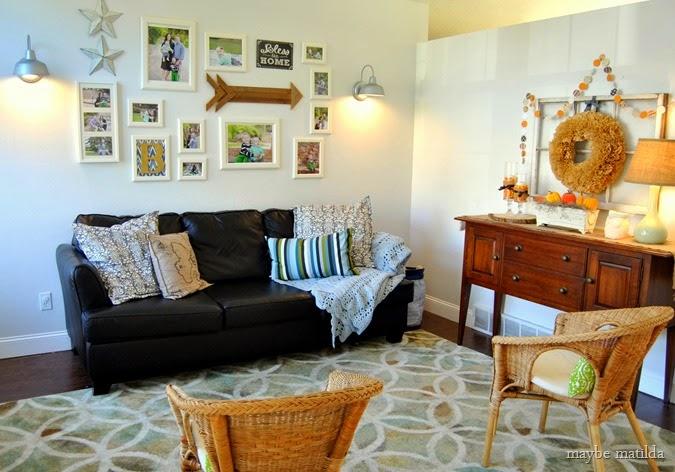 Rustic gallery wall // www.maybematilda.com