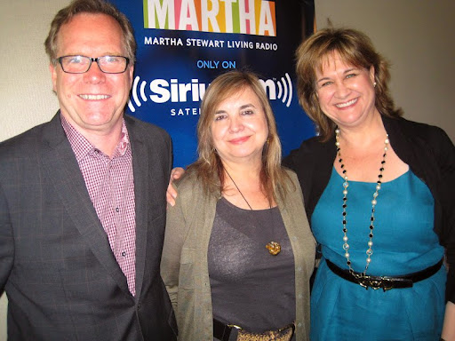 Andrew Dornenburg and Karen Page with their guest, Maricel Presilla (center).