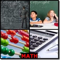 MATH- 4 Pics 1 Word Answers 3 Letters