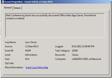 Lync 2013 - OWA - event - 41034