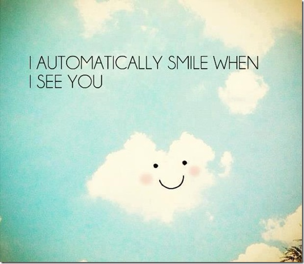 Automatically Smile… |Cute Love Quote