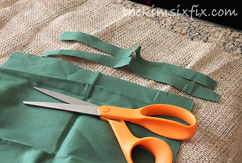 Cutting fabric strips