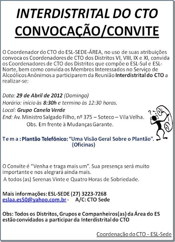 convite - interdistrital do CTO