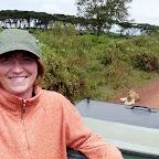 Ulrike und die Löwen © Foto: Angelika Krüger | Outback Africa Erlebnisreisen