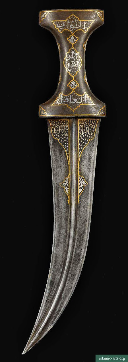 AN INDIAN STEEL-HILTED DAGGER, 18TH-19TH CENTURY