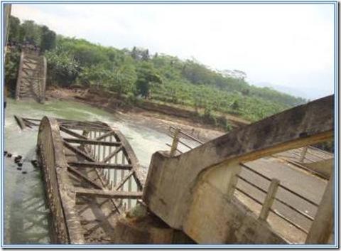 Jembatan Cindaga Lama, Runtuh