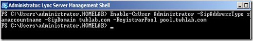 Lync - Enable Admin command