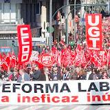 Manifestación de los sindicatos contra la nueva reforma laboral aprobada por el gobierno.