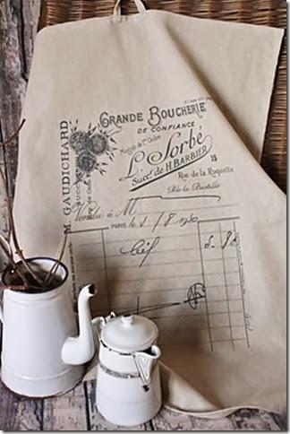 French Receipt Tea Towel