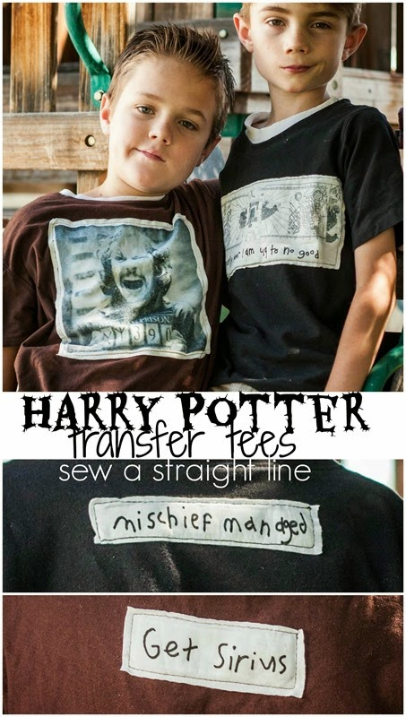harry potter transfer tees sew a straight line