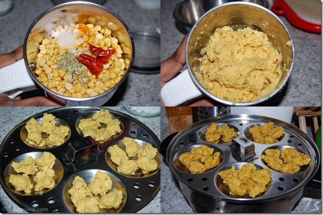Vada curry process - making of vada