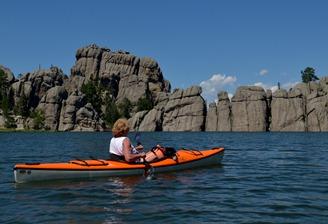 Sylvan Lake and granite rock formations