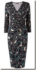 Phase Eight Leaf Print Wrap Dress