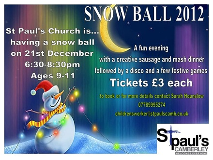 St Paul's Snow Ball in Camberley