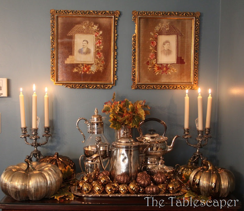 Fall Metallic Dining room 003