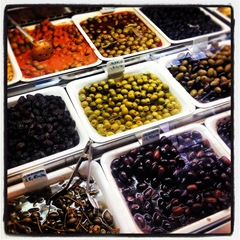olives at la Boqueria