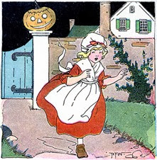 pumpkin girl vintage image graphicsfairy006b