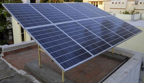 Solar Panels installed in a Chennai resident's home