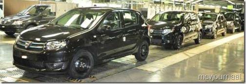 Dacia Sandero 2013 op de lopende band 01