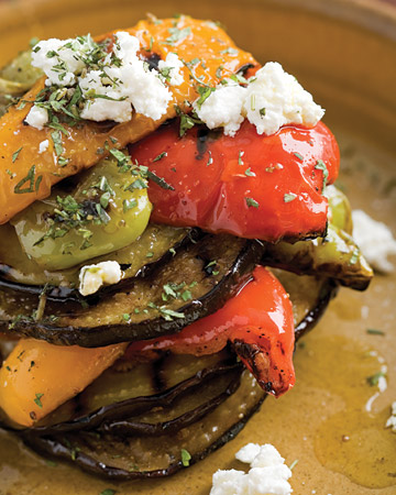 Emeril's grilled vegetables are so vibrant in color and flavor.