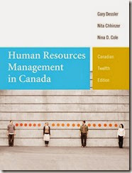 Solution Manual for Human Resources Management in Canada 12th Canadian Edition Gary Dessler Nita Chhinzer Nina D. Cole