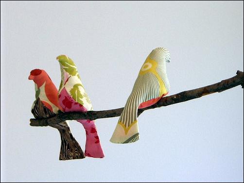 Patrones de pájaros de tela - Imagui
