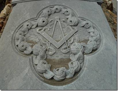 Simbolo Masnico en Monjuit